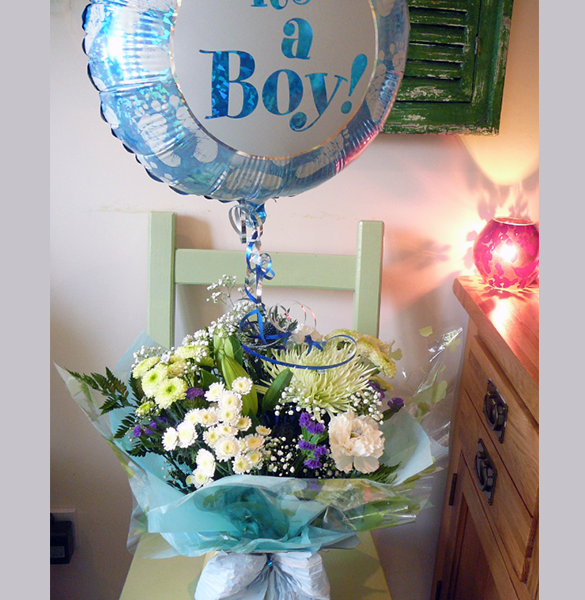 It's a boy flowers and balloon from warrington