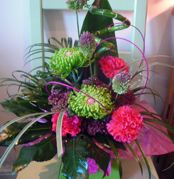 Colourful display from Cheshire florist Miss Daisy