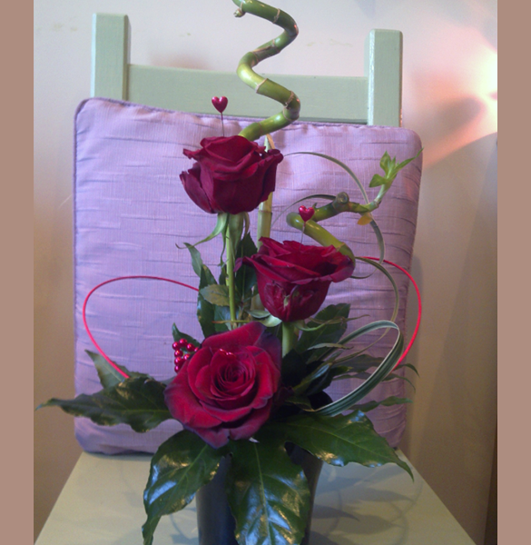 Bamboo and Roses from Warrington Florist